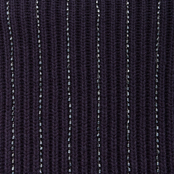 BEADED VERTICAL KNIT  NOCTURNAL  hi-res