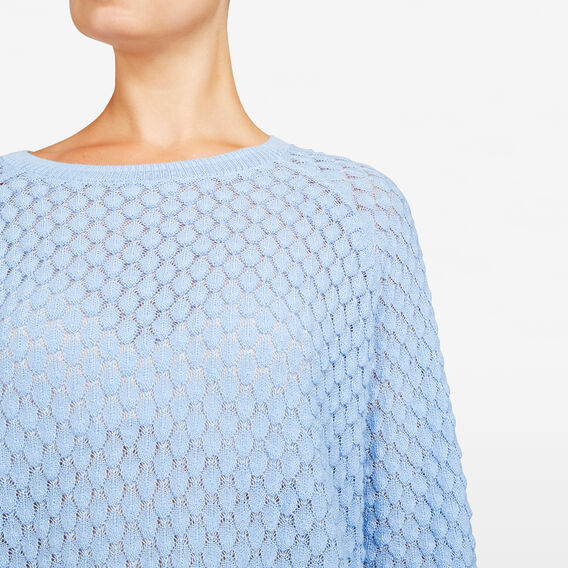 POPCORN TEXTURED KNIT  SKY BLUE  hi-res