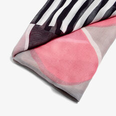 HEARTS AND STRIPES SCARF  MULTI  hi-res