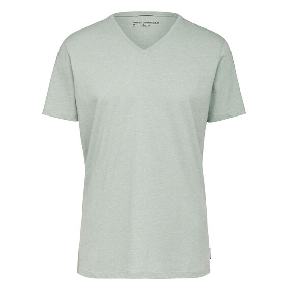CLASSIC V NECK T-SHIRT  DUST MINT MARL  hi-res