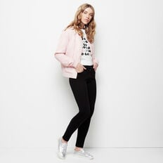 FRENCH KISS TEE  WHITE/BLACK/PINK/SIL  hi-res