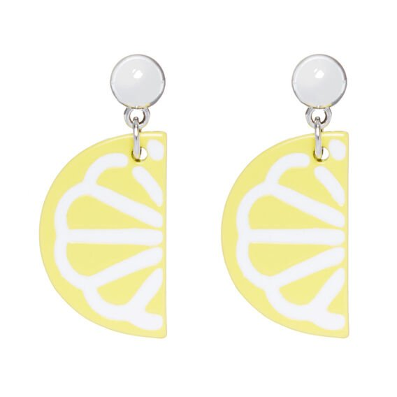 LEMON DROP EARRINGS  WHITE/YELLOW  hi-res