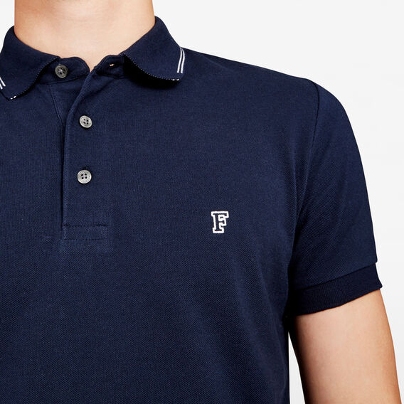 NEO TIPPING POLO  MARINE BLUE  hi-res