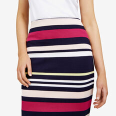 STRIPE BODY CON SKIRT  NOCTURNAL/MULTI  hi-res