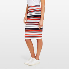 STRIPE BODY CON SKIRT  SUM WHITE/NAVY/RED  hi-res