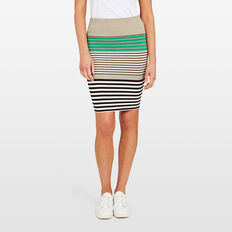 BODY CON STRIPE SKIRT  BLACK MULTI  hi-res