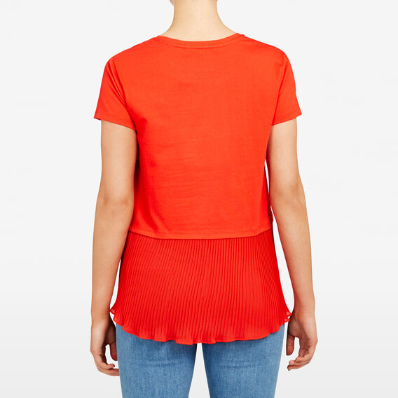 PLEAT BACK TEE  PAPRIKA  hi-res