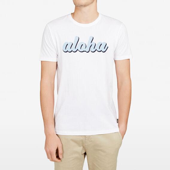 ALOHA CREW NECK T-SHIRT  WHITE  hi-res