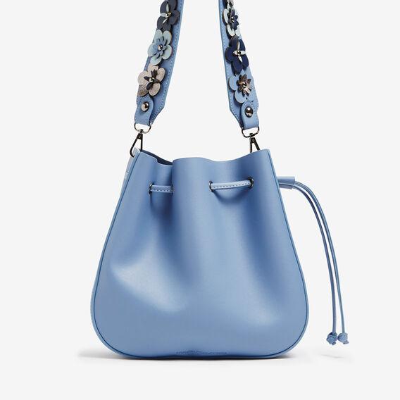 FLORAL STRAP BUCKET BAG  LIGHT BLUE  hi-res