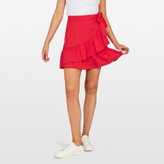 JACQUARD WRAP SKIRT  STRAWBERRY  hi-res