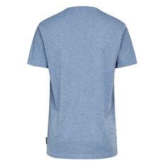 CLASSIC V NECK T-SHIRT  DUST BLUE MARL  hi-res