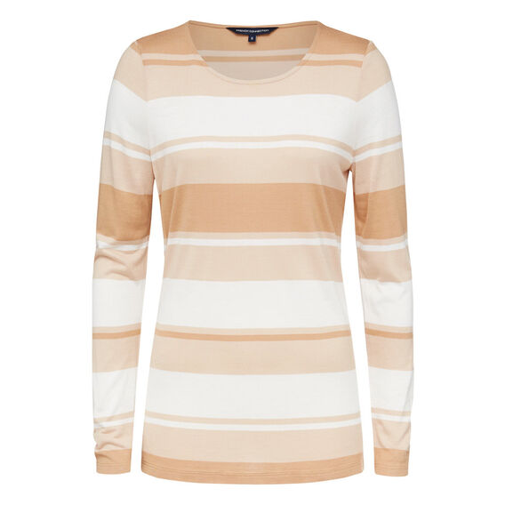 IVY IRREGULAR STRIPE TEE  CAMEL/NOUGAT/WINTER  hi-res