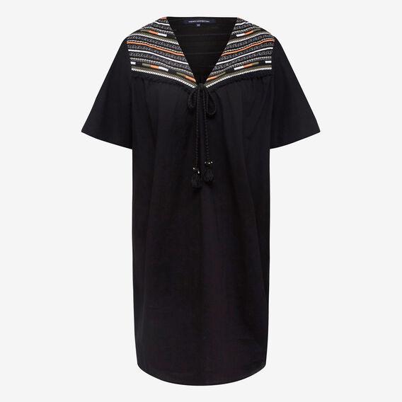 EMBROIDERED BABYDOLL DRESS  BLACK MULTI  hi-res