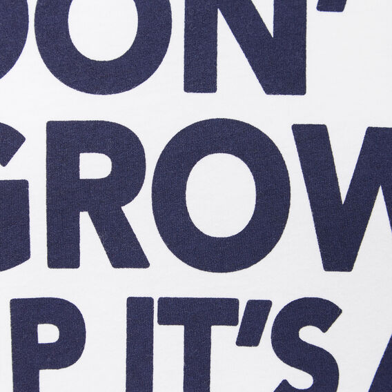 DON'T GROW UP CREW NECK T-SHIRT  WHITE  hi-res
