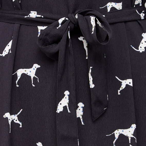 DALMATIAN SHIRT DRESS  BLACK MULTI  hi-res