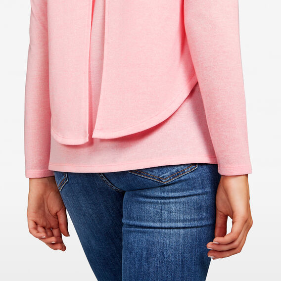 DOUBLE LAYER TEE  BLUSH MARLE  hi-res