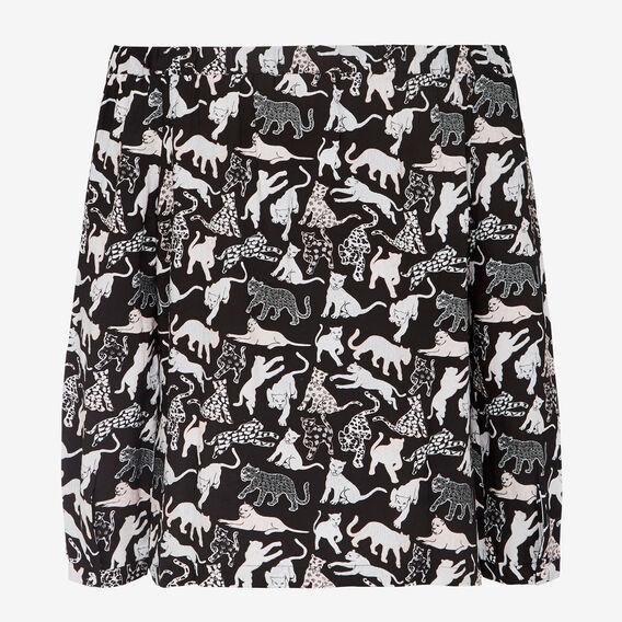 LEOPARD CATS OFF SHOULDER SHIRT  BLACK/MULTI  hi-res