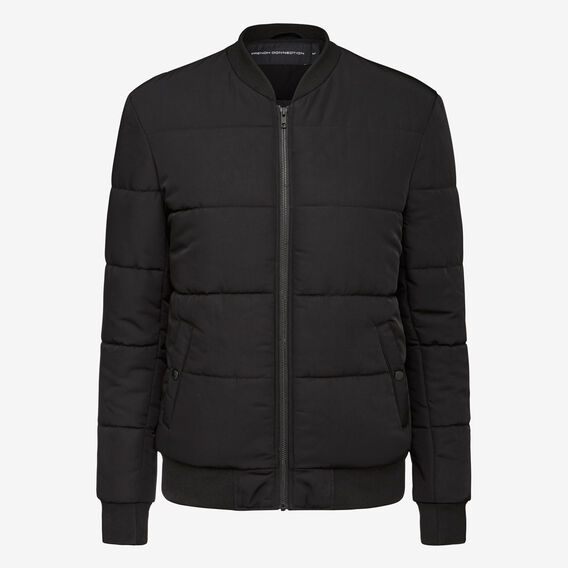COLUMBIA PUFFER BOMBER JACKET  BLACK  hi-res