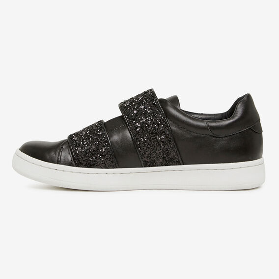 GLITTER TWO STRAP SNEAKER  BLACK  hi-res