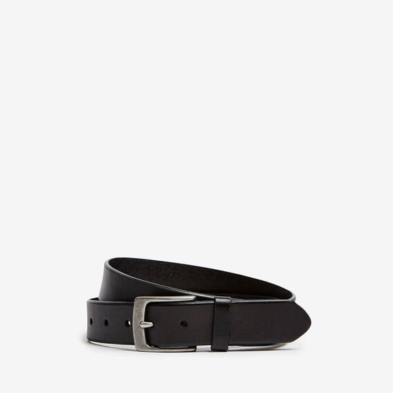 SINCLAIR RUSTIC LEATHER BELT  BLACK  hi-res