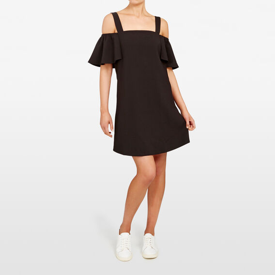 COLD SHOULDER DRESS  BLACK  hi-res