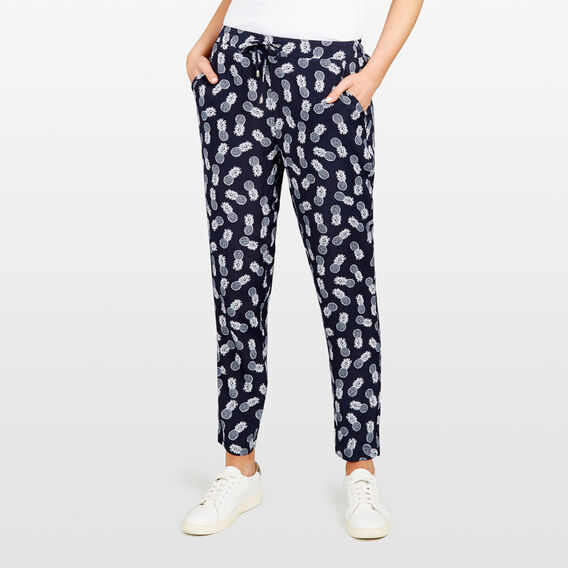PINAPPLE PRINTED SOFT PANT  NOCTURNAL/SUMMER WHI  hi-res