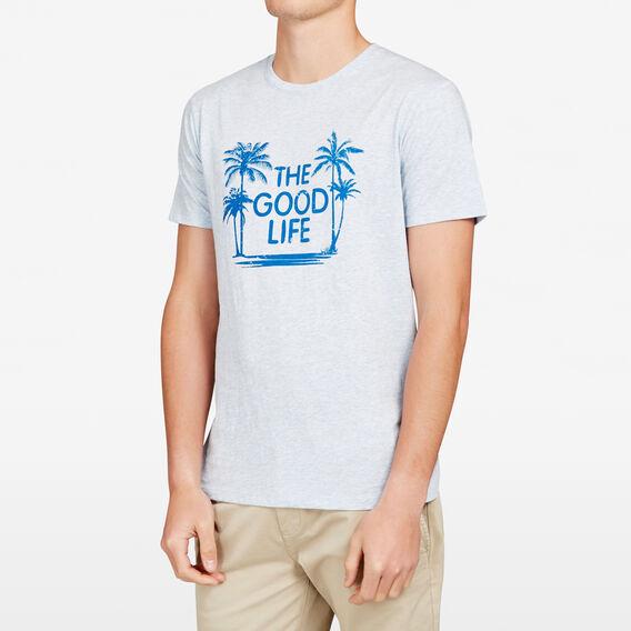 THE GOOD LIFE CREW NECK T-SHIRT  SKY BLUE  hi-res