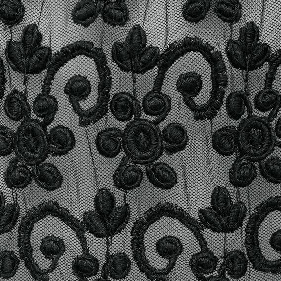 MAUI LACE SHIRT DRESS  BLACK  hi-res