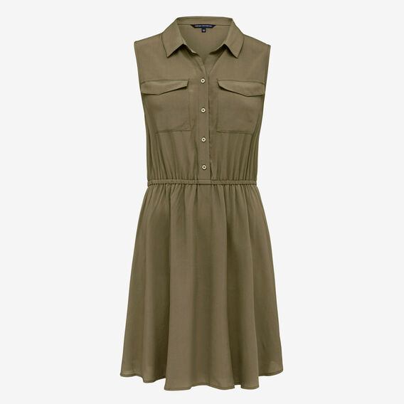KHAKI SHIRT DRESS  KHAKI  hi-res