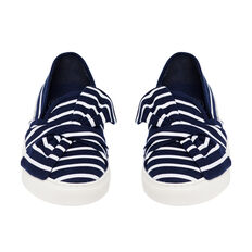 TWIST BOW PLIMSOLLS  NAVY/WHITE  hi-res