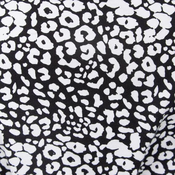 LEOPARD YARDAGE HAREM PANT  BLACK/SUMMER WHITE  hi-res