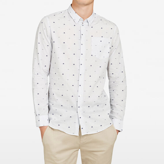 PROFESSOR PRINT SLIM FIT SHIRT  WHITE  hi-res
