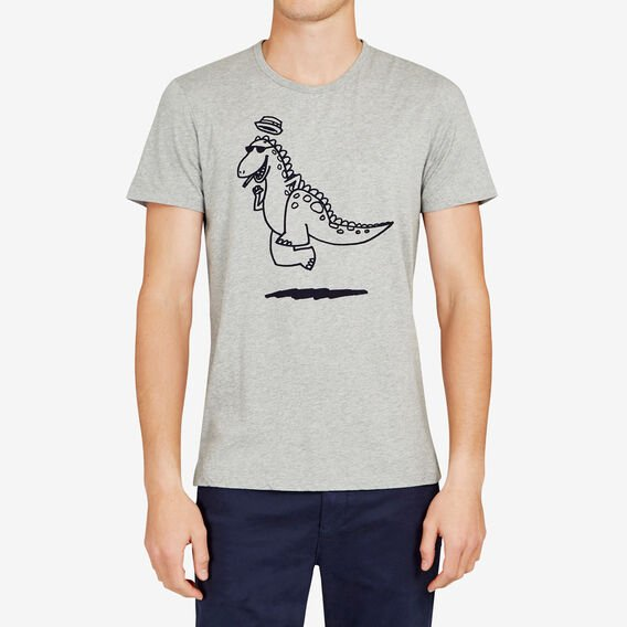 JOLLY DINOSAUR T-SHIRT  GREY MELANGE  hi-res