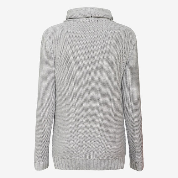 WRAP COLLAR KNIT  GREY MARLE  hi-res
