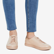 CLEAN LINES LEATHER SNEAKER  DUSTY PINK  hi-res