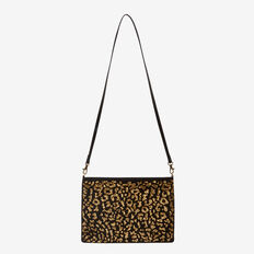 WILD SIDE EMBELLISHED CLUTCH  BLACK/GOLD  hi-res