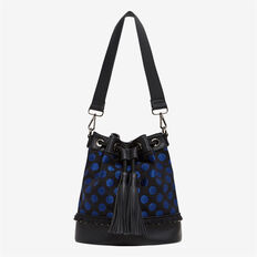 METALLIC SPOT BUCKET BAG  NAVY/BLACK  hi-res