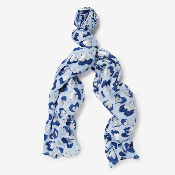 LOTS OF LOVE SCARF  BLUE FOG MULTI  hi-res
