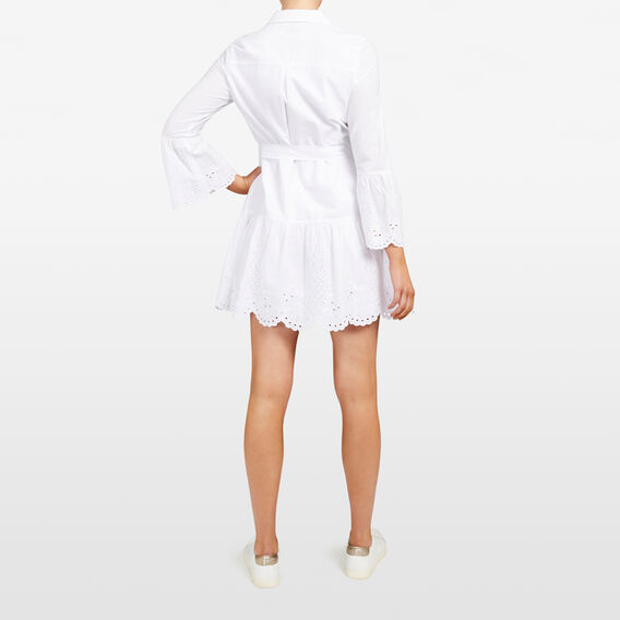 EMBROIDERED FRUIT SHIRT DRESS  SUMMER WHITE  hi-res