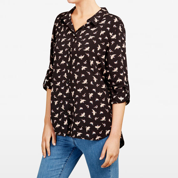 SPARROW PRINTED SHIRT  BLACK MULTI  hi-res