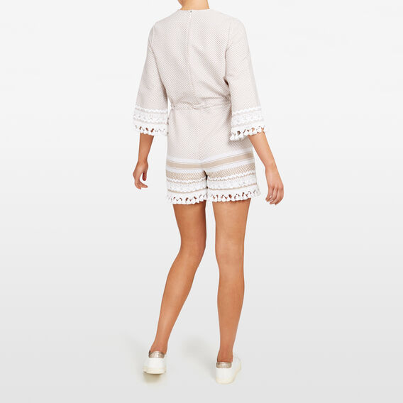 TEXTURED PLAYSUIT  STONE/SUMMER WHITE  hi-res