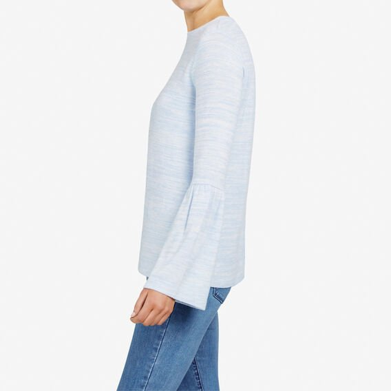 BELL SLEEVE TEE  LIGHT BLUE MARLE  hi-res