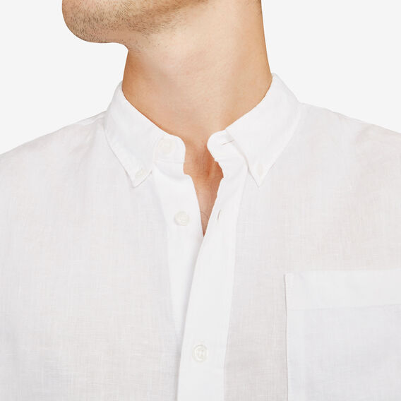 LINEN REGULAR FIT SHIRT  WHITE  hi-res