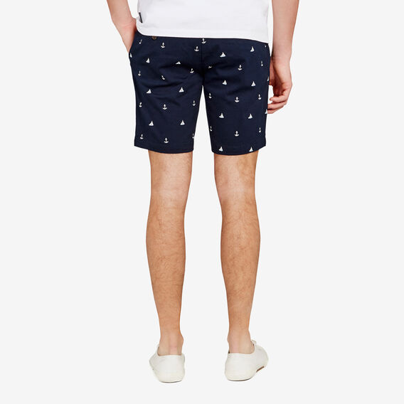OFF SHORE EMBROIDERED SHORT  MARINE BLUE  hi-res