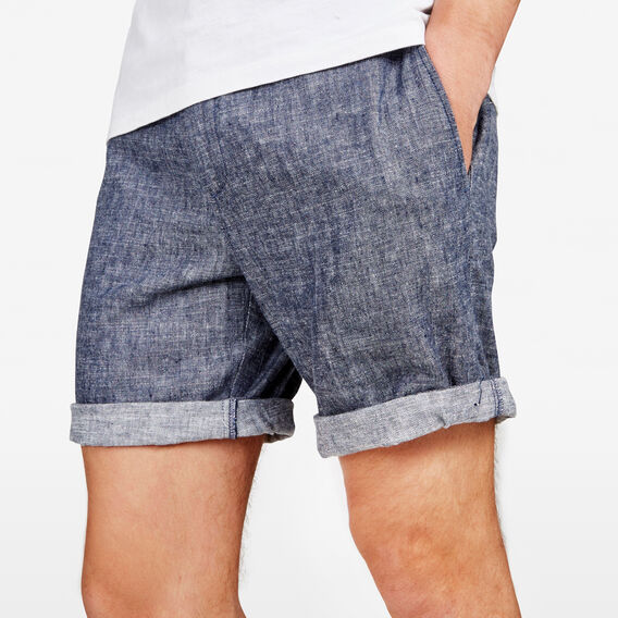 SOUTH BEACH  LINEN BLEND SHORT  MARINE BLUE  hi-res