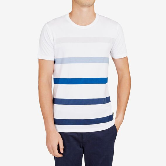 BLOCK STRIPE T-SHIRT  WHITE  hi-res