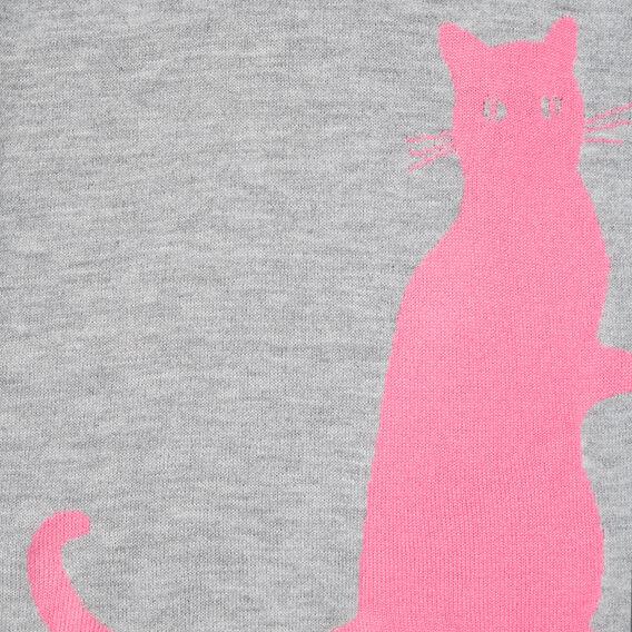 CAT SCARF  GREY MARLE/ORCHID  hi-res