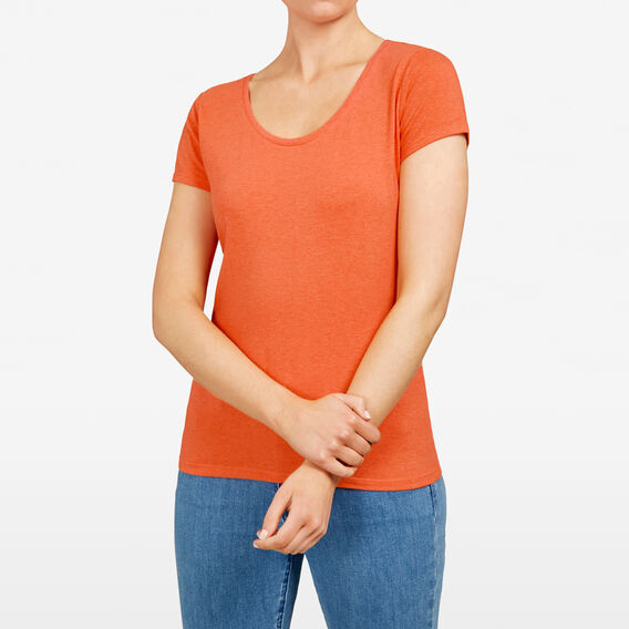 HAYLEY STRETCH SCOOP NECK TEE  CLOVE  hi-res