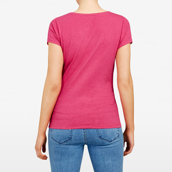 HAYLEY STRETCH SCOOP NECK TEE  FUCHSIA  hi-res
