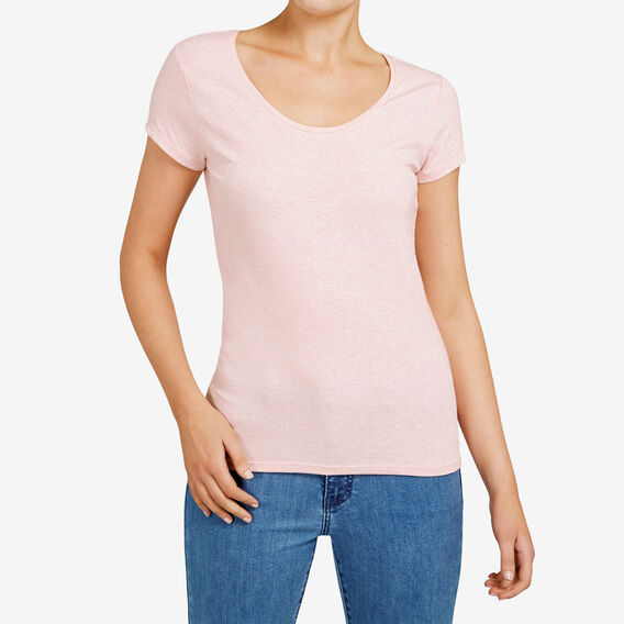 HAYLEY STRETCH SCOOP NECK TEE  PINK BLOSSOM  hi-res